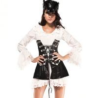 Vintage - interdiffused cosplay piece set pirates uniform performance 8531