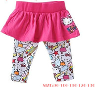 Free Shipping(5pcs/lot) 2013 hot selling baby hello kitty leggings girl baby girls skirt-leggings kids carton