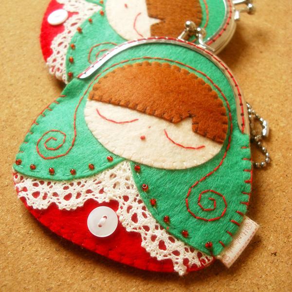 Matryoshka doll mouth gold package coin purse storage bag(China (Mainland))