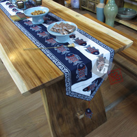 Best chinese style table runner national handmade trend print 100% cotton dining table fabric table cloth bed flag