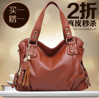 Genuine leather women's handbag fashion women's 2013 fashion shoulder bag handbag cross-body leather bag big bag