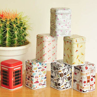 Free Shipping Storage tin sealed cans mini storage jar candy jar snack cans tea caddy