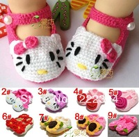 (8 color )handmade crochet baby shoes Infant First Walkers shoes Toddler shoes 20 piece=10 pair 830