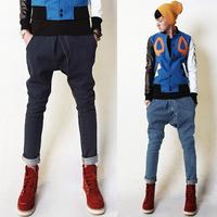 free shipping Fashion mens fashion trousers mens low-rise harem pants skinny pants skinny jeans pants