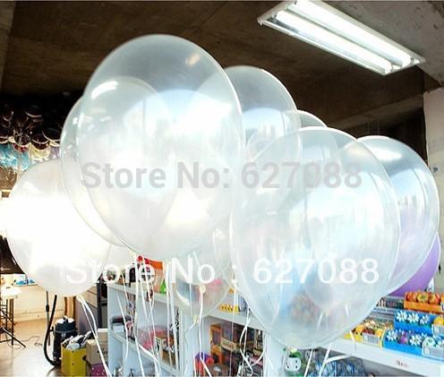 10pcs/lots Free shipping wholesales 10 inch clear balloons ,transparent balloon, wedding/party/brithday decoration(China (Mainland))