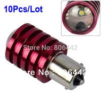 10Pcs/Lot HOT 1156 BA15S 7W DC 12V-30V Cree Q5 Wedge Car Reverse Light Lamp LED Bulb White TK0074