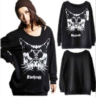 Kill star autumn new arrival o-neck long-sleeve loose sweatshirt t-shirt lovers Gothic