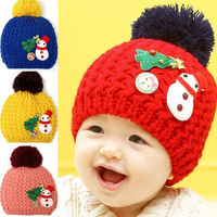 Free shipping 2013 autumn&winter  baby Santa Claus warm hat/beanie/Wholesale child knitted hat BH001