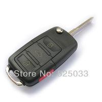 3 Buttons+Panic Wholesale Flip Folding Key Shell Case Replacement For VOLKSWAGEN Eos GTI CC GOLF JETTA Passat