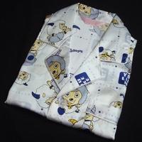 Pure silk sleepwear male child sericiculture silk set short sleeve length pants lounge