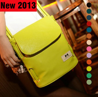 New 2013 vintage women bags candy colors women leather handbags Single shoulder cross-body bag 17 color free shipping