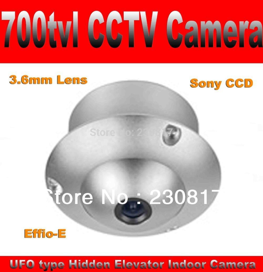 700TVL Mini CCTV Camera Sony CCD Elevator CCTV Camera with 3.6mm Lens Metal Case Wide Angle UFO Camera(China (Mainland))