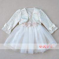 Autumn lace twinset long-sleeve child dress princess dress female child tulle dress flower girl formal dress