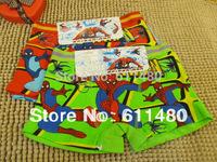 Retail  4pcs baby  child  cotton  underwear  kid s  cartoon  spider man panties   boy s boxer  briefs  freeshipping