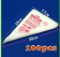 100pcs=1bag=1lot Cake Decorating Disposable Icing Pastry Piping Bag Tool