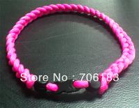 Big Promotion Triple Braid Titanium Germanium Negative Ion Sports Necklace,  100pcs/lot, Free Shipping