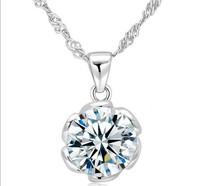 2013 new Hot Hearts & Arrows cut Top Quality Swiss CZ Diamond Round Pendant Necklace