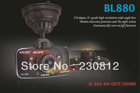Full HD 1080P Car DVR BL880 IR night car video recorder camcorder 170 Wide Angle Lens