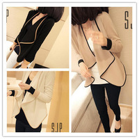 2013 autumn women's all-match loose short design small cape long-sleeve cardigan female short jacket