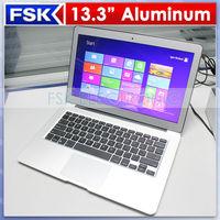 "Freeshipping Factory 13.3"" intel Celeron 1037U Dual Core notebook pc computer 2G RAM 64G SSD Full metal Case ultrabook"