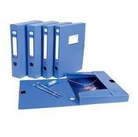 A4 plastic file box file box 1 2.0cm economic type file box blue information box