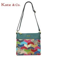 Kate co 2213 fashion animal women's handbag genuine leather patchwork bag shoulder bag messenger bag