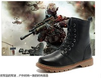 Free shipping British winter snow boots boots high-top boots men's boots Martin boots boots large size men's large size 38-47