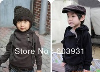 2013 autumn newest baby hooded childrens clothing Diagonal zipper Fleece sweater girl's top shirts Hooded Sweater hoodie