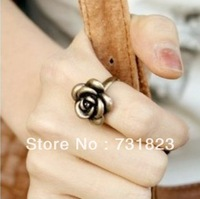 Min.order is $15 (mix order)  Exquisite vintage retro rose Ring Adjustable Lovely cosplay party charming Ring free ship