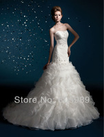 Free shipping best selling 100% Guarantee 2013 Wedding Dresses any size/color wedding dressWD619