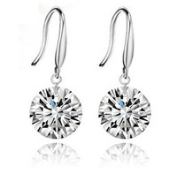 2013 fashion women Gold plated crystal drop earrings Zircon Rhinestone fashion Jewelry