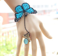 free shipping 6pcs/lot 2013 Newest arrival Super fairy butterfly crystal bracelet  Lolita design MTB55