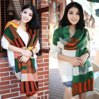 2013 autumn and winter thermal thickening all-match yarn knitted muffler scarf lovers design scarf
