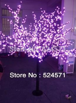 Free shipping LED cherry tree light, 2.2meter high 1248LEDs ,pink LED with cherry flowers led christmas tree light 2 pcs/lot(China (Mainland))