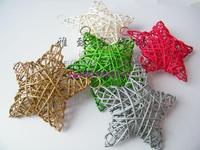 Medium 15 cm Christmas ornaments Christmas tree decoration Pentagram Pentagram Wicker