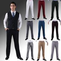 Новая летняя мода случайных мужчин конфеты цвет прямо вскользь костюм брюки e1381