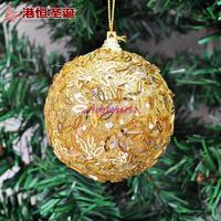 Christmas ornaments 8cm Luxury golden Christmas ball Christmas tree ornaments sequins 25g