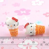 Wholesale Free shipping! kawaii flatback resin cabochons 8 colors  diy phone decoration craft Size11*21mm