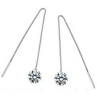 Luxury Austrian Crystal Earring,925 Sterling Silver on Platinum Plated,2013 new Hot Style Women's gold-plated earrings