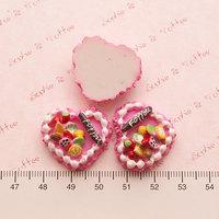 Wholesale Free shipping! kawaii flatback resin cabochons 8 colors  diy phone decoration craft Size20*30mm