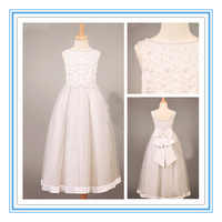 Lovely A-line Applique Embroidery Flower Girl's Dress Made In China(WDSB-1033)