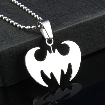 batman necklace & pendant  fashion jewelry stainless steel cheap price  blank necklace PN-011