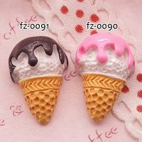 Wholesale Free shipping! kawaii flatback resin cabochons 2 colors  diy phone decoration craft Size13*20mm
