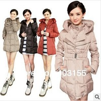 2013 New arrivals Fashion WINTER Commuter thickening  Slim Hooded Down WOMEN NEON SIZE L-XXXL