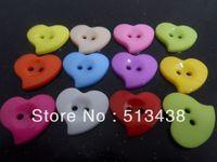 200pcs lovely heart shape buttons Mixed  plastic flatback buttons, DIY doll sewing/scrapbook/craft/Cardmaker for Women clothes