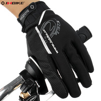 Inbike windproof ride gloves male thermal bicycle gloves full finger gloves long
