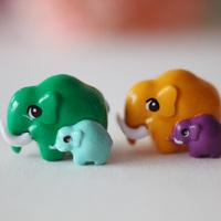 Small paint elephant diy mobile phone