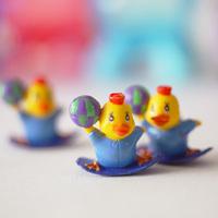 Blue skateboard chick decoration doll diy