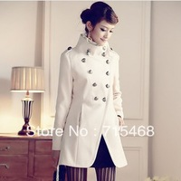 2013 New Arrival Women coat fashion overcoat/ Napoleon military uniform double breast winter coat /jacket outerwear