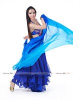 Belly Dance Silk Veil 114cmx250cm Streamer Light Blue-Dark Blue-Royal Blue